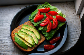 Avocado and Salmon sandwich